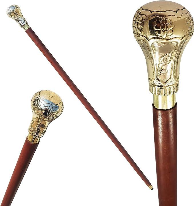 Details about  /Solid Brass Knob Design Handle Victorian For Walking Stick set of 4