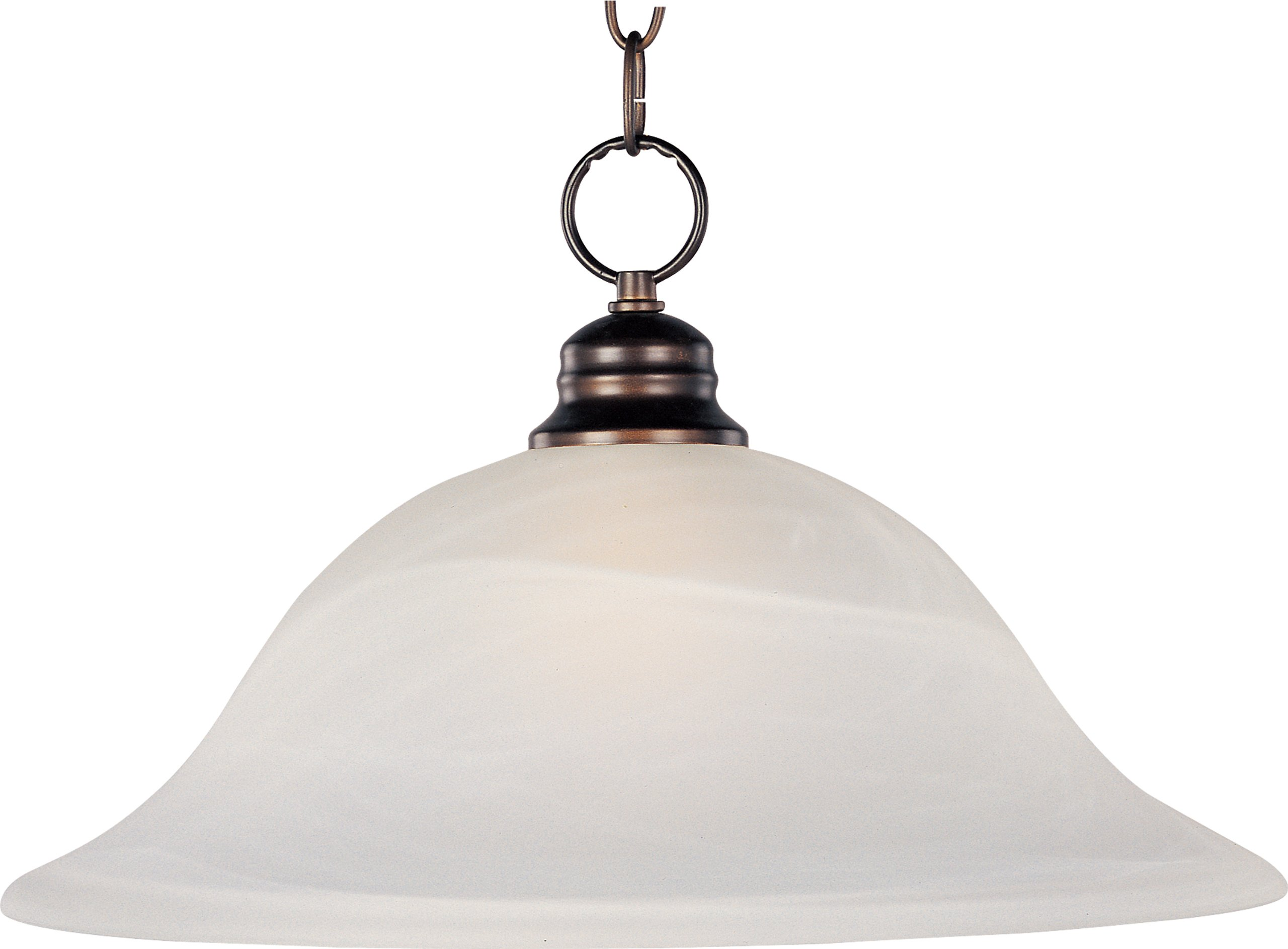 Maxim 91076MROI Essentials 1-Light Pendant, Oil Rubbed Bronze Finish, Marble Glass, MB Incandescent Incandescent Bulb , 100W Max., Damp Safety Rating, Standard Dimmable, Glass Shade Material, 8050 Rated Lumens