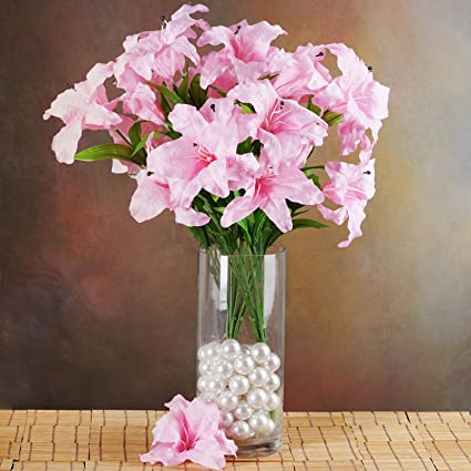 Amazon efavormart 54 extra large lilies real looking artificial efavormart 54 extra large lilies real looking artificial lily flowers for diy wedding bouquets centerpieces mightylinksfo