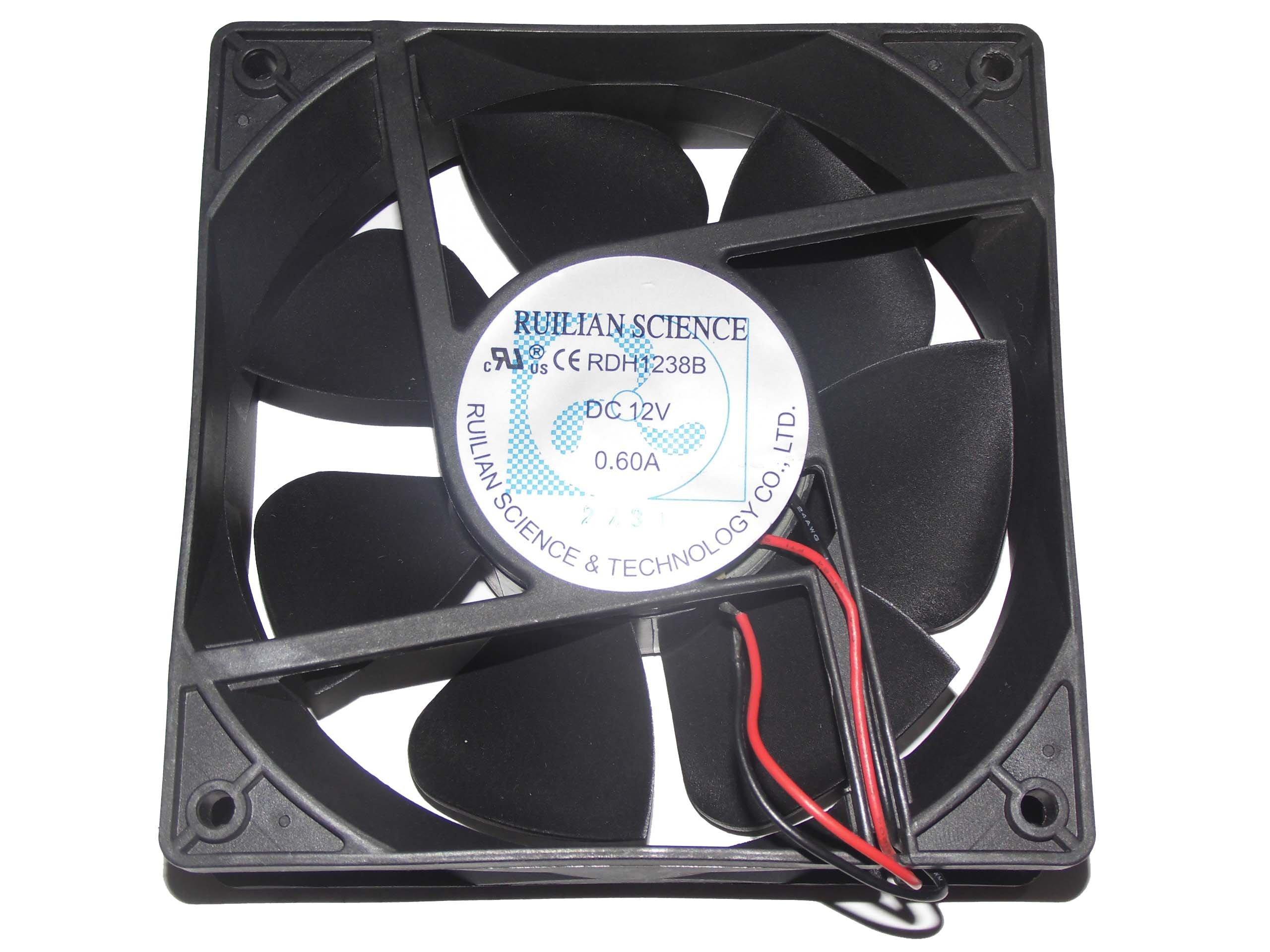 120x120x38mm RDH1238B 12V 0.60A 2Wire 12cm Server Fan