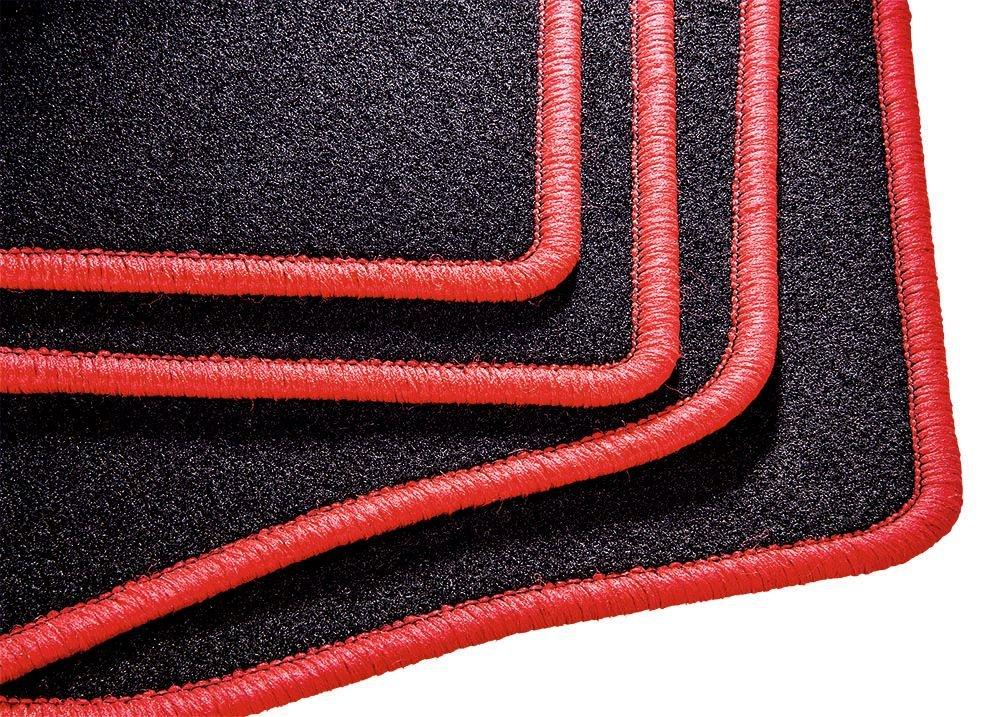 4-teiliges Fussmatten Set mit schwarzer Einfassung CarFashion 257704 Misano Universal Velour Automatte f/ür Fast alle Auto