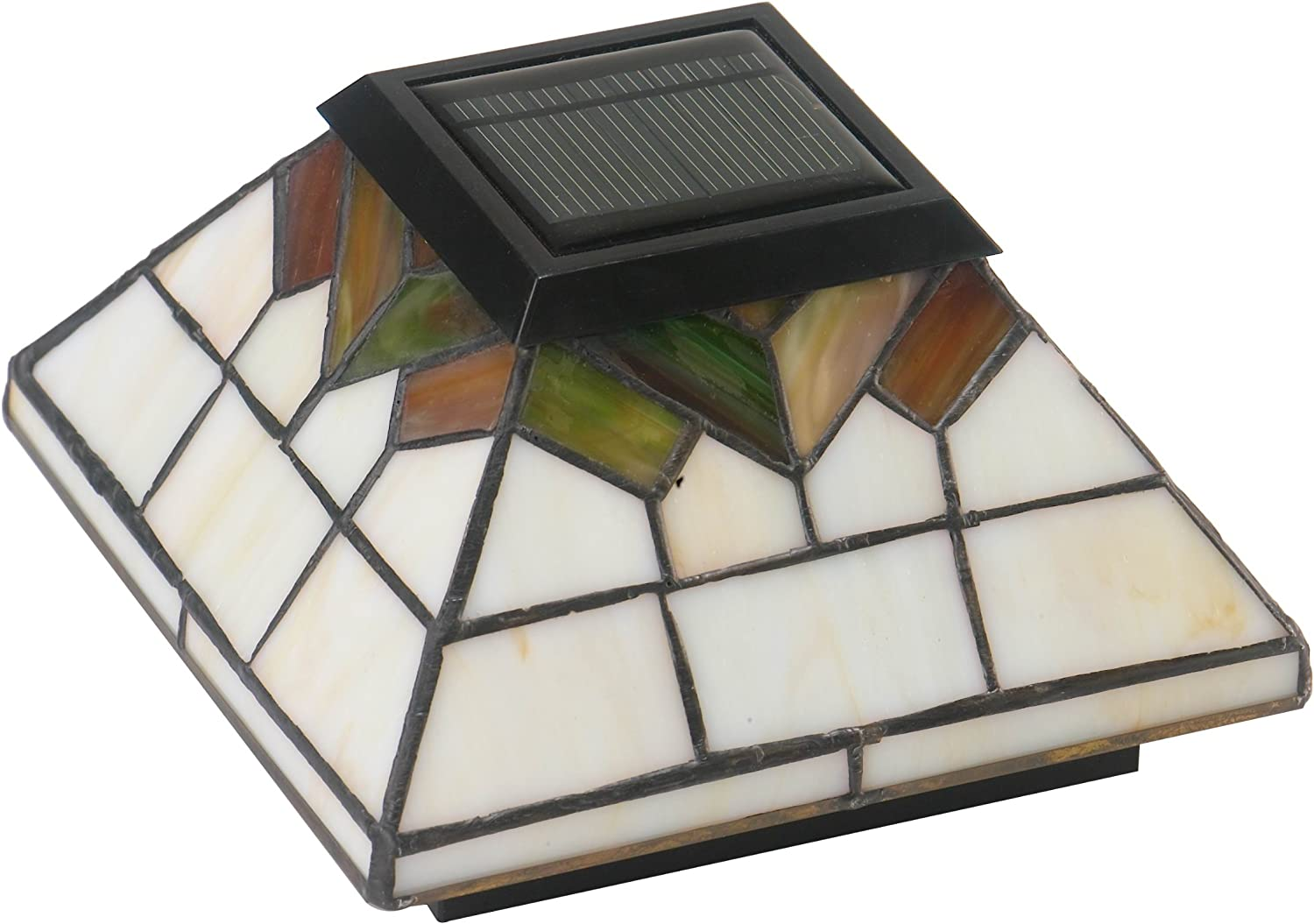 Classy Caps WG322 Wellington Solar Post Cap 2 Pack//Stained Glass