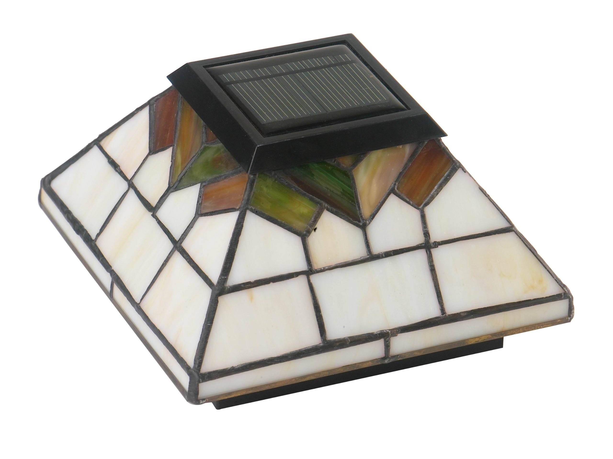 Classy Caps WG322 Wellington Solar Post Cap - 2 Pack/Stained Glass