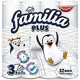 Familia Plus 3 Katlı Tuvalet Kağıdı, 32'li, 1 Paket (1 x 32 Adet)