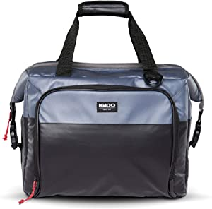Igloo Snapdown 36 Can Durable, Compact & Adjustable Insulated Leak Proof Cooler Bag, Black and Gray