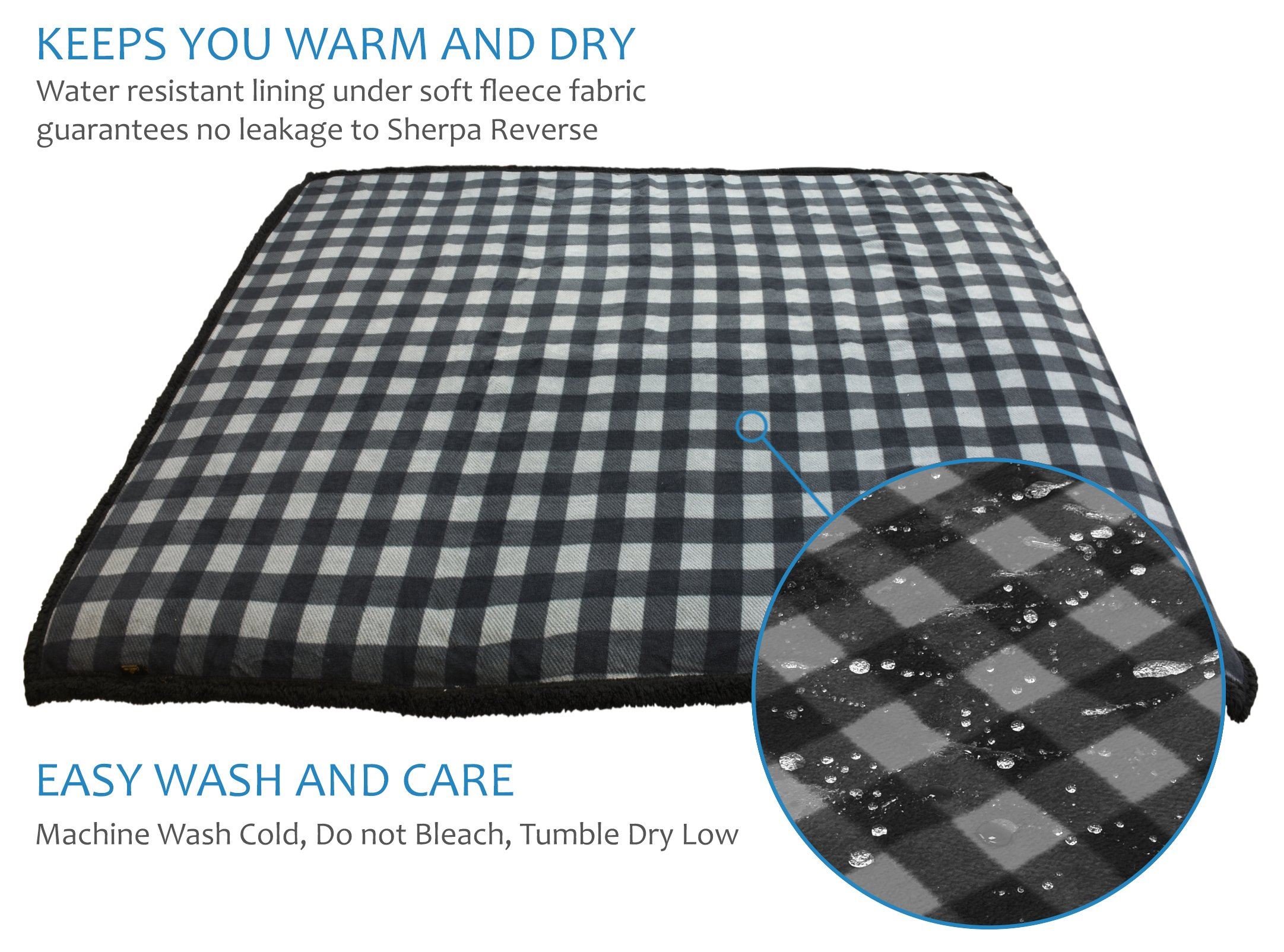 Pawsse Waterproof Dog Blanket,Furniture Sofa Couch Covers for Large Dogs Cats Puppy,Pet Cushion Mat for Bed Car Seat 80''x60'' by Pawsse (Image #2)