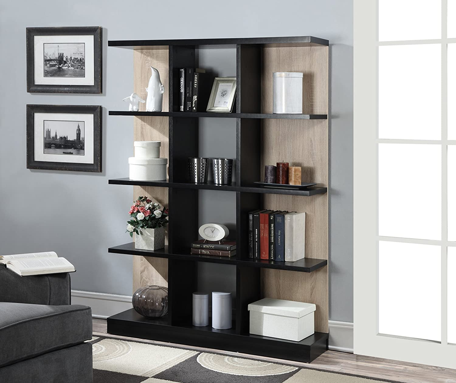 Amazon.com: Convenience Concepts Key West 4-Tier Bookcase, Weathered White  and Black: Kitchen & Dining - Amazon.com: Convenience Concepts Key West 4-Tier Bookcase