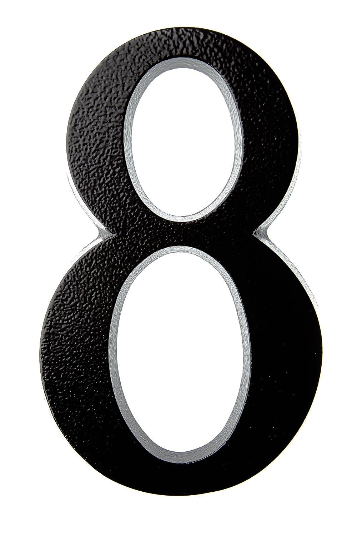N/úmero de puerta color antracita//negro Huber 20/cm recubrimiento de polvo de aluminio tridimensional