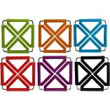 Tenta Kitchen Expandable Silicone Trivets (6, multi)