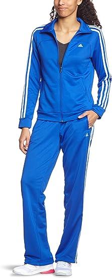 adidas Survêtement Essentials 3 Stripes pour femme Bleu bleu ...