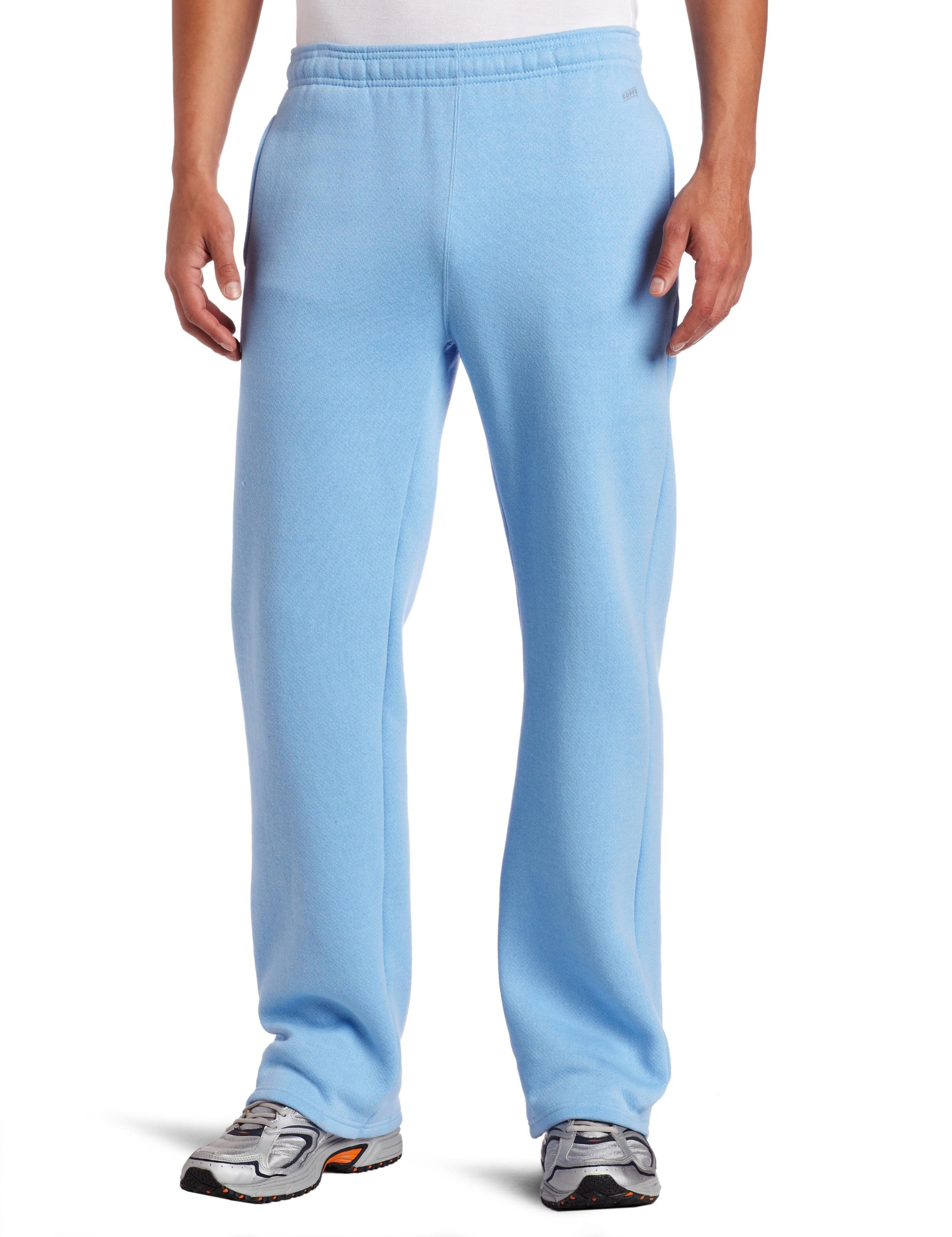 Soffe MJ Men's Training Fleece Pocket Pant, Light Blue Small