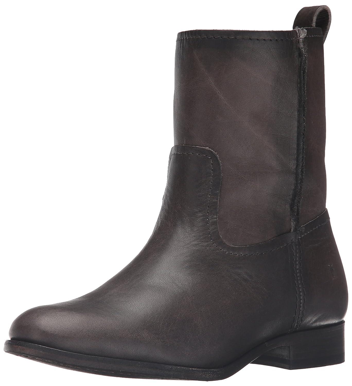 FRYE Women's Cara Short Leather Boot B01AA7XF2M 6.5 B(M) US|Smoke