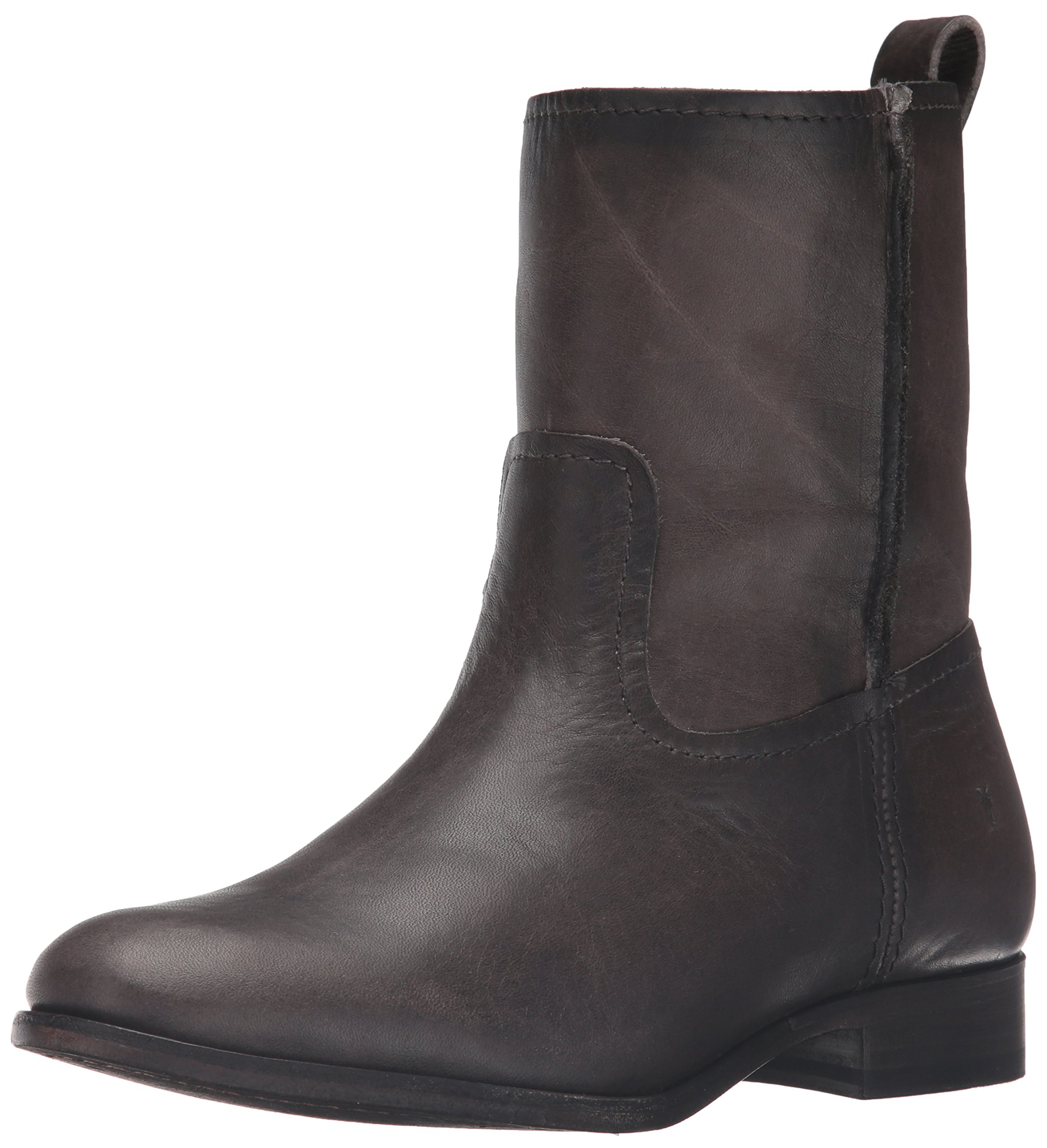 FRYE Women's Cara Short Leather Boot, Smoke, 6.5 M US