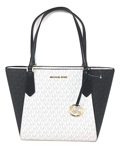 6c7ef2db133d Amazon.com: Michael Kors Kimberly Small Bonded Tote PVC Leather Shoulder Bag  Bright White: Shoes