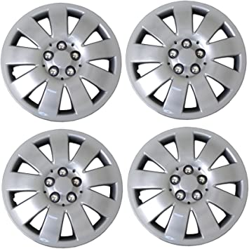TuningPros WSC-721S14 Hubcaps Wheel Skin Cover 14-Inches Silver Set of 4