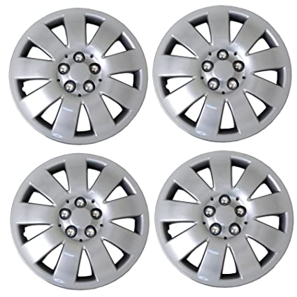 Amazon.com: Tuningpros WC3-16-721-S - Pack of 4 Hubcaps - 16-Inches Style 721 Snap-On (Pop-On) Type Metallic Silver Wheel Covers Hub-caps: Automotive