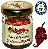 Peperoncino Carolina Reaper in Polvere, Il Più Piccante al mondo HP22B Piccantezza da Guinness Vaso 15gr