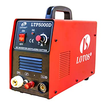 Lotos LTP5000D 50Amp Non-Touch Pilot Arc Plasma Cutter, Dual Voltage 110V/220V, 1/2 Inch Clean Cut