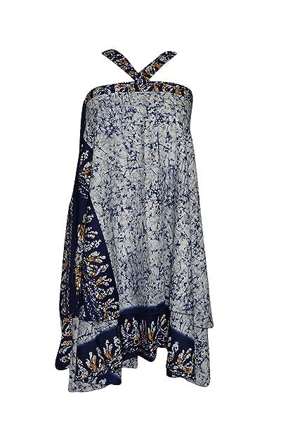 Mogul Interior - Falda - Envolvente - para Mujer Azul Azul Large