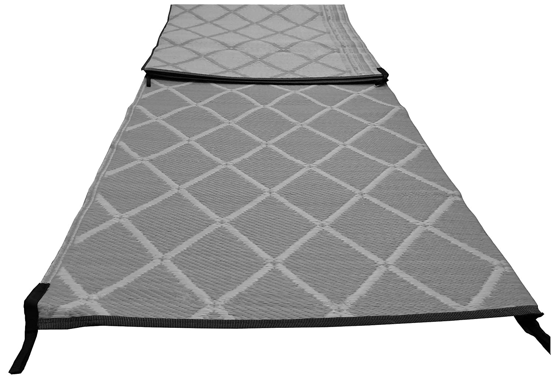 Grau Paradise Zeltboden Markise Teppich 2.5m X 6m Gepolstert Starkes Gewebt