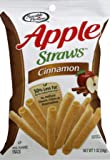 Sensible Portions Apple Straws, Cinnamon, 1 oz. (Pack of 8)