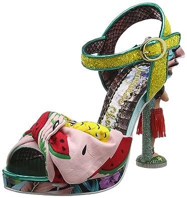Irregular Choice Damen Hula Dreams Offene Sandalen mit Keilabsatz