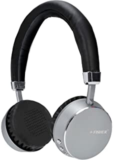 Fisher Wireless Professional Headphone with Microphone, Bluetooth Enabled, Comforting Leather like Finish for Earpads