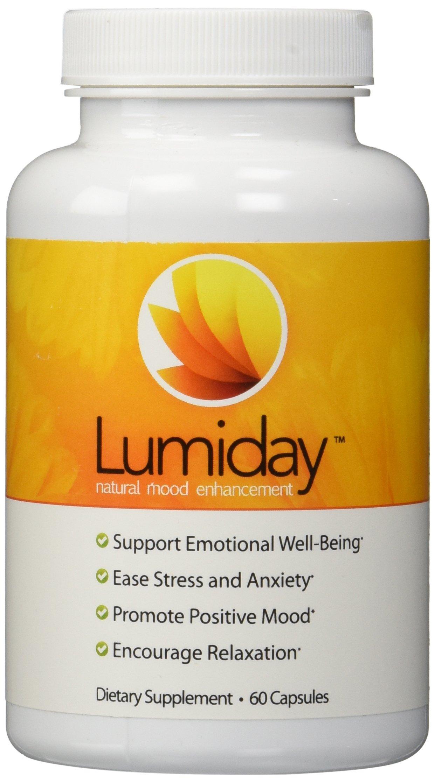 Lumiday Natural Mood Enhancement Dietary Supplement, 60 Capsules