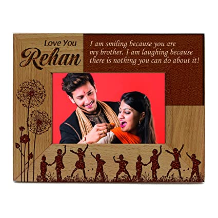Buy Presto Personalised Engraving Wooden Photo Frame Gift for Your ...