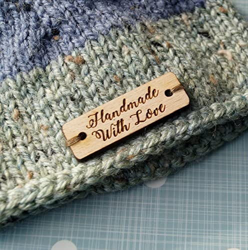 d5a5338d312c Custom wooden garment labels, clothing labels, personalized label tags,  labels for handmade products, wood labels for knitted items, 25 pc