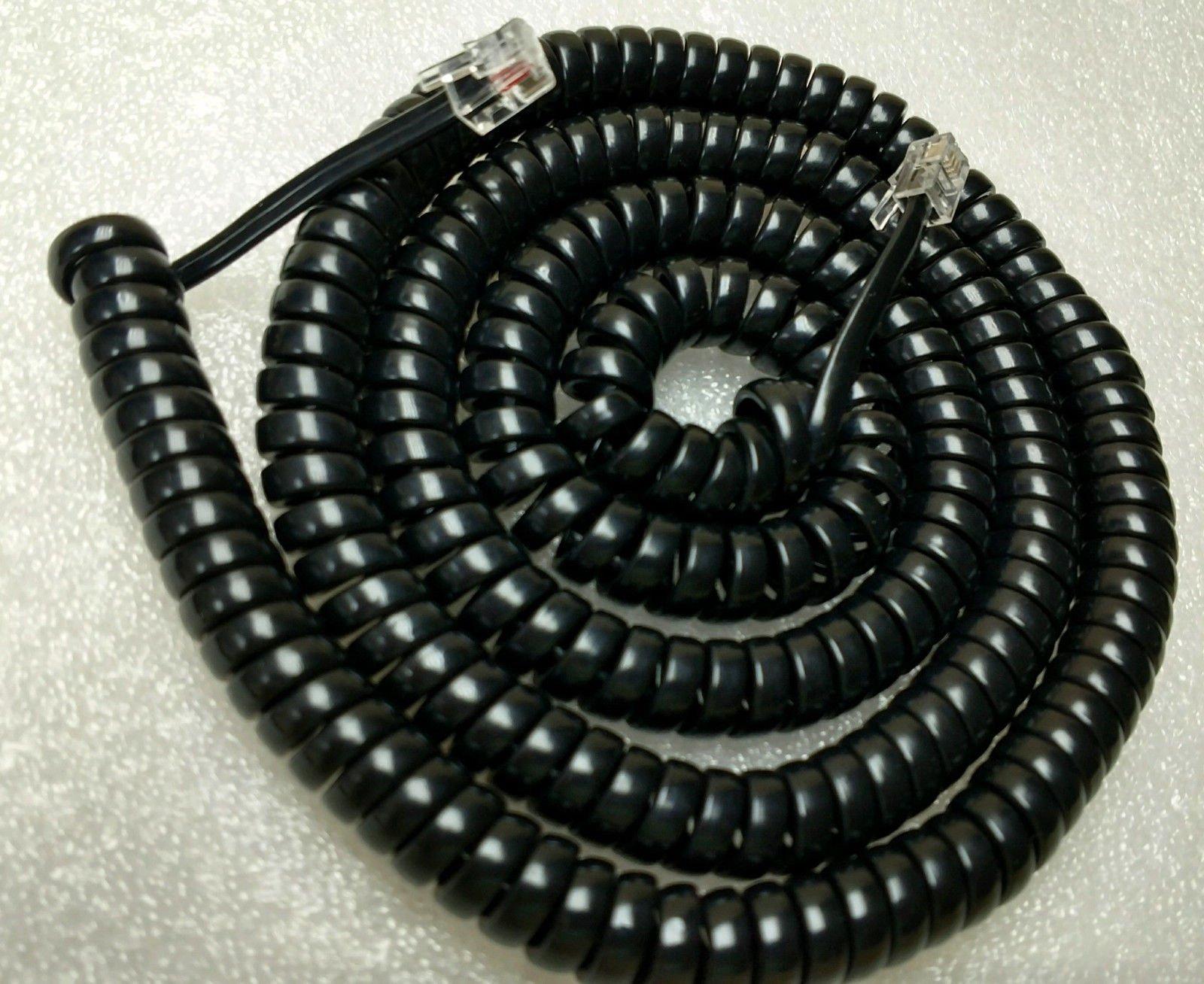 Lot of 5 Black 25' Ft Long Handset Phone Cords for RCA Executive Series 2 3 4 8 Line ViSys 25215 25260 25201 25204 25205 25214 25255 25270 2line 4line 8line (5-Pack) by DIY-BizPhones