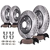 KT117481 E-Coated Slotted Drilled Rotors + Ceramic Pads Max Brakes Front Elite Brake Kit Fits: 2014 14 Ford F150 w//6 Mounting Holes