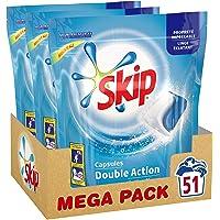 Skip Lessive Capsules Duo Active Clean 87 Lavages (Lot de 3x29 Lavages)
