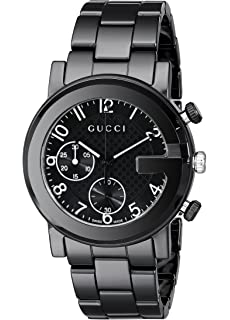 Gucci Gucci G - Chrono Collection Analog Display Swiss Quartz Black Mens Watch(Model: