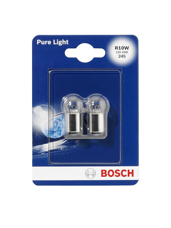 Bosch 1987301019, Car Light Bulb, R10W Pure Light, Brake Light, Turn Signal, Taillight, Licence Plate Light