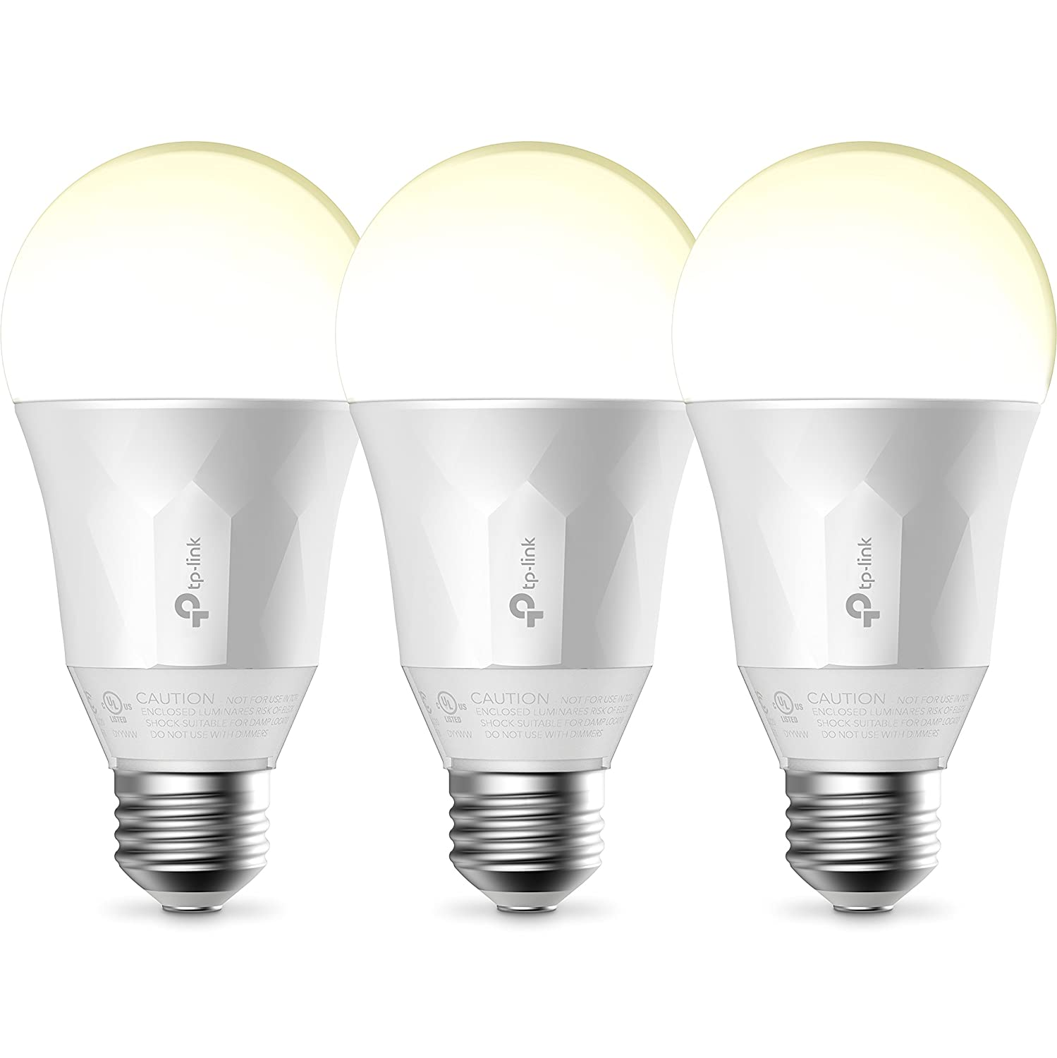 Kasa Smart Wi-Fi LED Light Bulb by TP-Link – Soft White, Dimmable, A19, No Hub Required, Works with Alexa and Google Assistant, 3-Pack LB100 TKIT Discontinued by Manufacturer