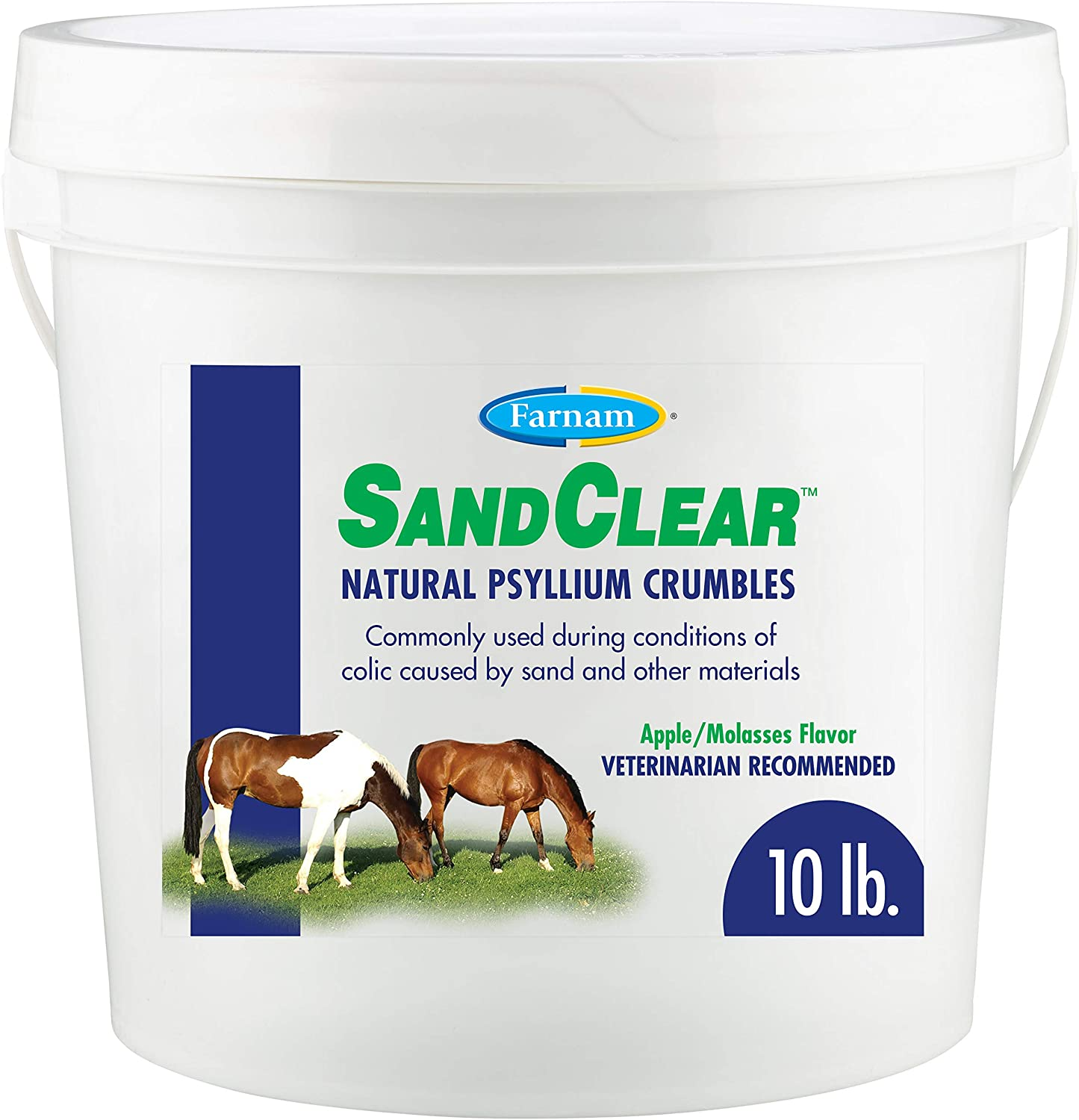 Farnam SandClear Natural Psyllium Crumbles, supports the removal of sand and dirt, 10 pound (10208) : Horse Psyllium : Pet Supplies
