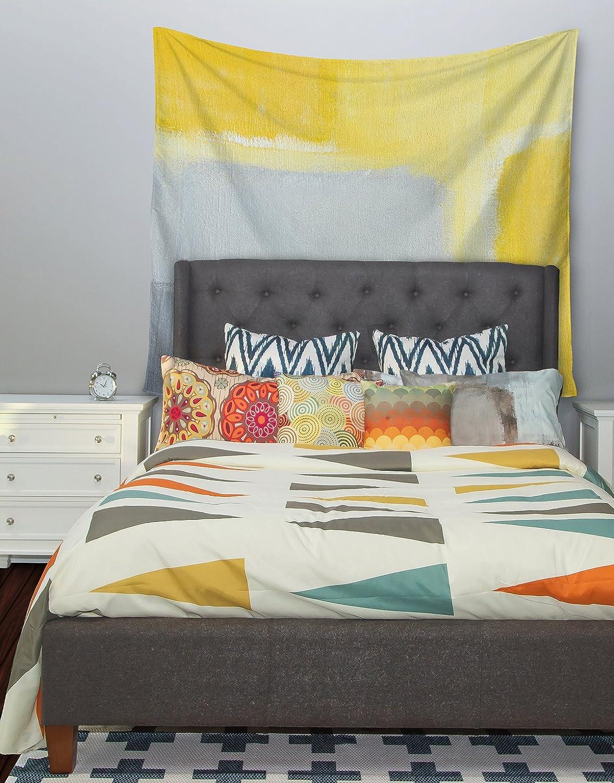 51 X 60 Kess InHouse CarolLynn TICE Inspired Grey Yellow Wall Tapestry