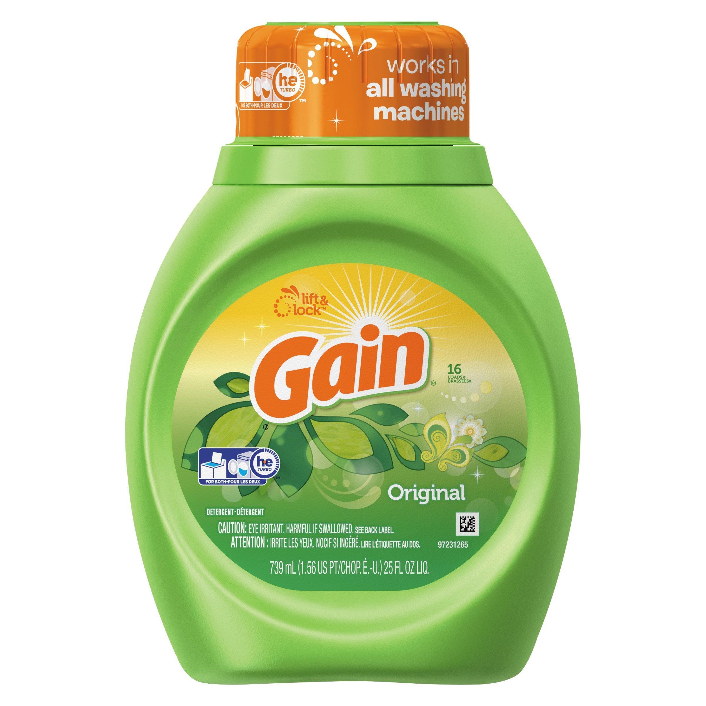 Gain 12783CT Liquid Laundry Detergent, Original Fresh, 25 Oz Bottle (Case of 6)