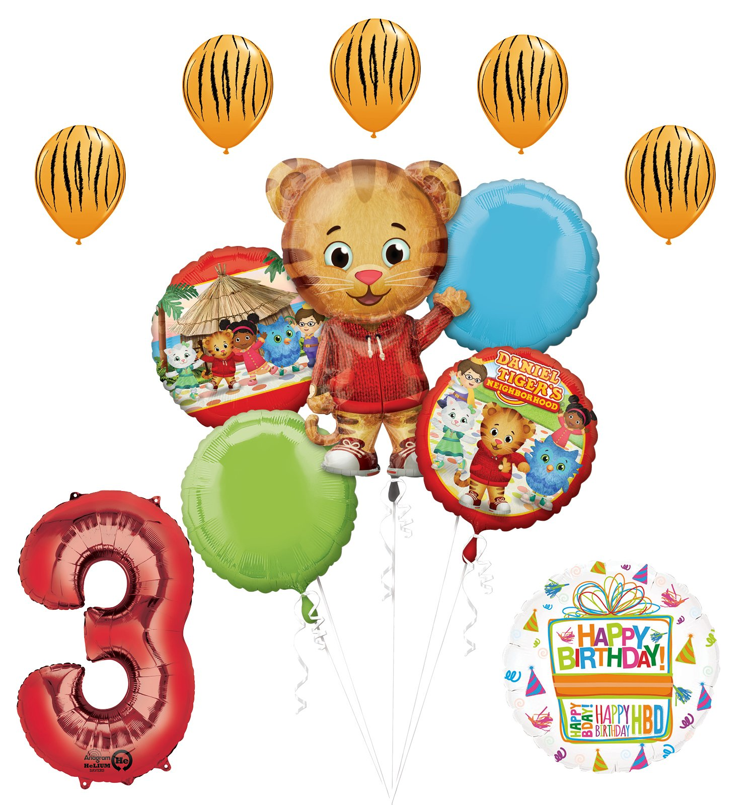 The Ultimate Daniel Tiger Neighborhood 3rd Birthday Party Supplies and Balloon Decorations
