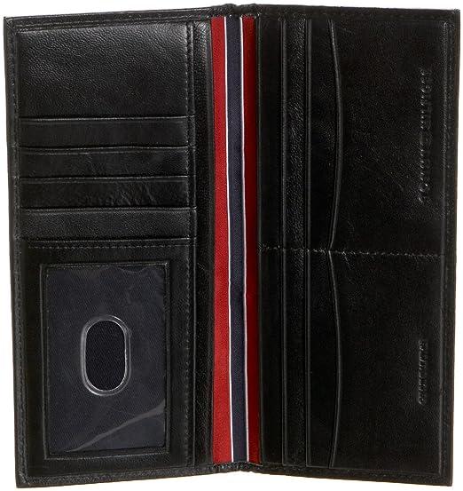 Tommy Hilfiger - Cartera para Hombre, diseño de Piel de Oveja - Negro - Talla única: Amazon.es: Zapatos y complementos