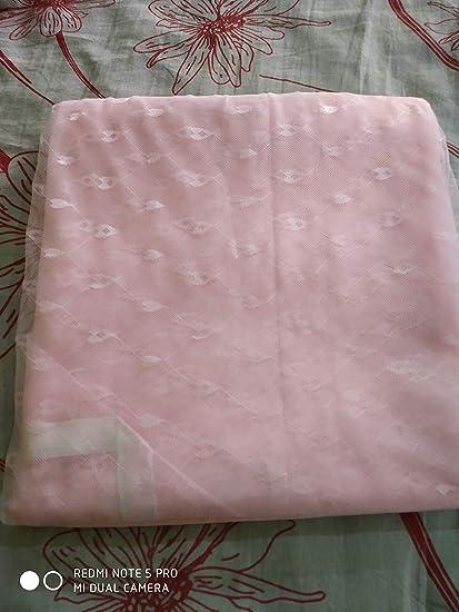 Shri ashu creation Superior Luxor Qualtiy Mosquito Net for Bed - (7 * 7 feet) Pink