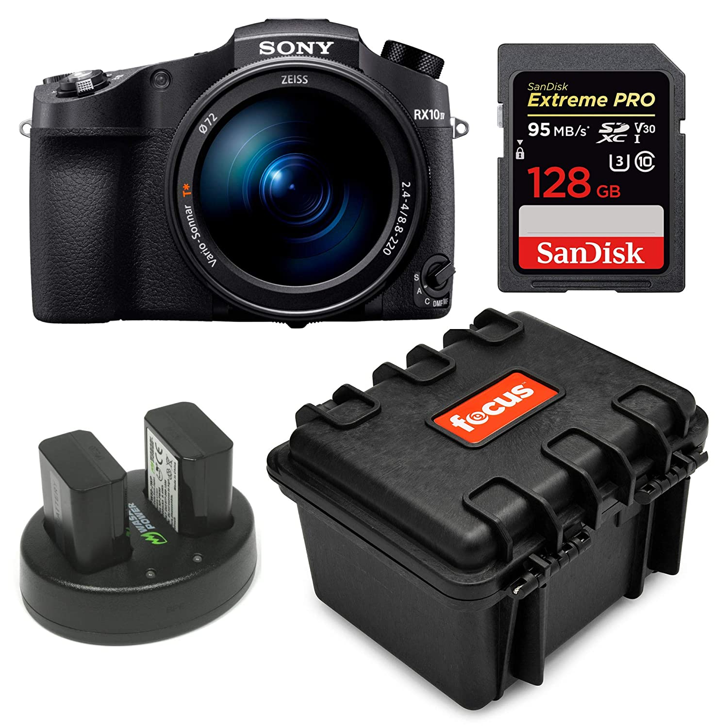 Sony Cyber‑Shot RX10 IV with 0 03 Second Auto-Focus & 25x Optical Zoom  (DSC-RX10M4), SanDisk Extreme PRO 64GB