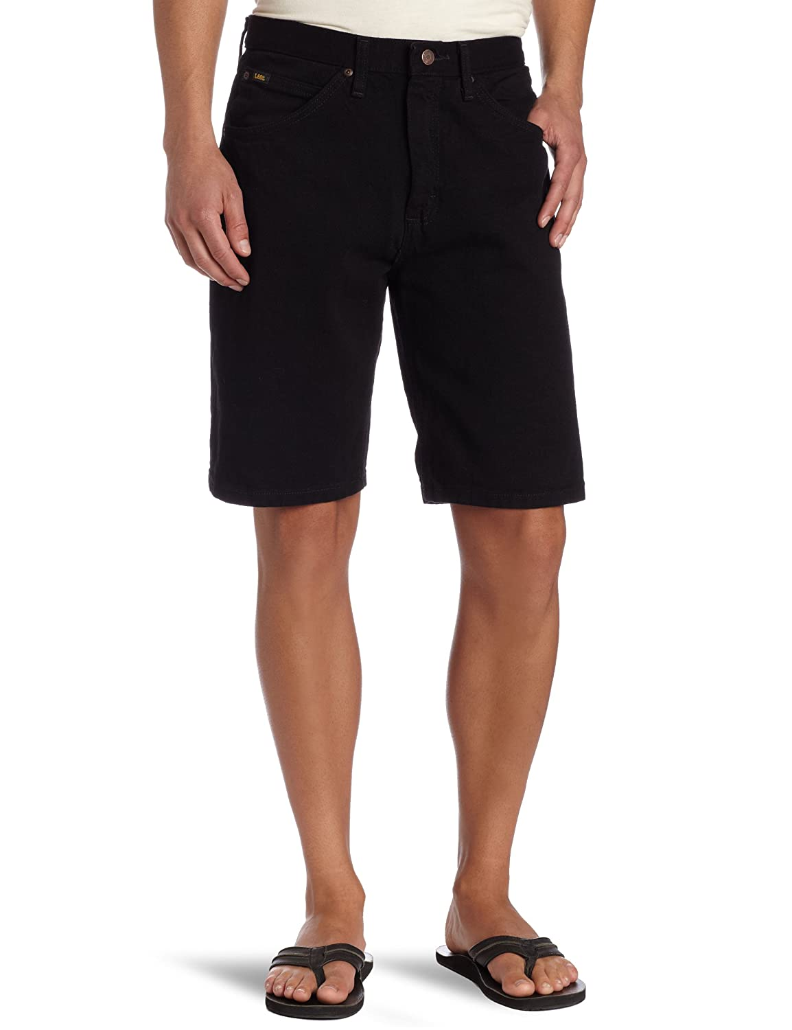 black denim shorts men
