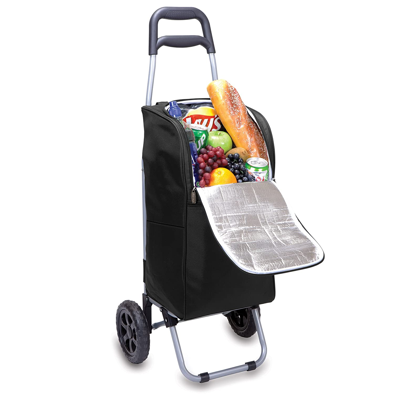 ONIVA a Picnic Time brand Temps de Pique-Nique Isotherme Chariot Cooler avec Chariot /à roulettes Taille Unique Noir
