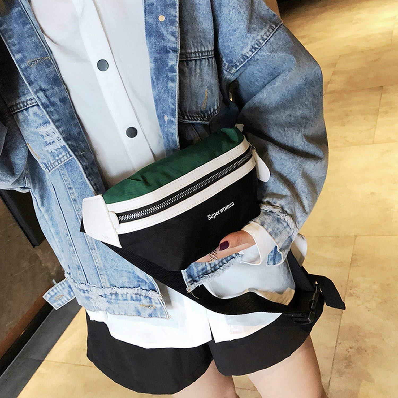 Bag Belt Women 2019 New Canvas Bum BagLeisure Panelled Shoulder Bags Fanny Pack For Women Girls Letter Waist Bag Packs