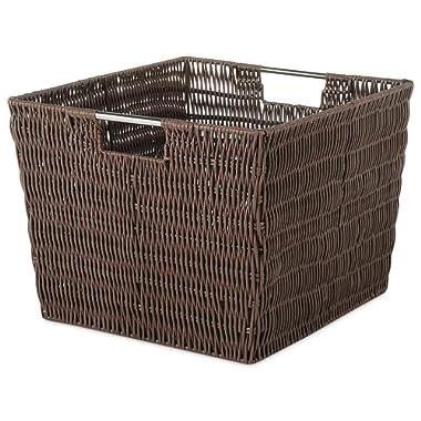 Whitmor Rattique Storage Tote Basket - Java