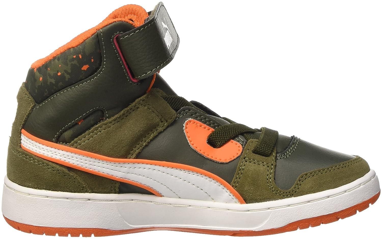 9a78c063d5234a Puma Boys  Rebound Str Wcamo Ps Trainers Green Verde (Burnt Olive Forest  Night Bianco Vermillion Arancione)  Amazon.co.uk  Shoes   Bags