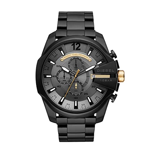 Diesel Men s Chronograph Quartz Watch with Stainless Steel Strap DZ4479   Amazon.co.uk  Watches 930b2ea6f5f