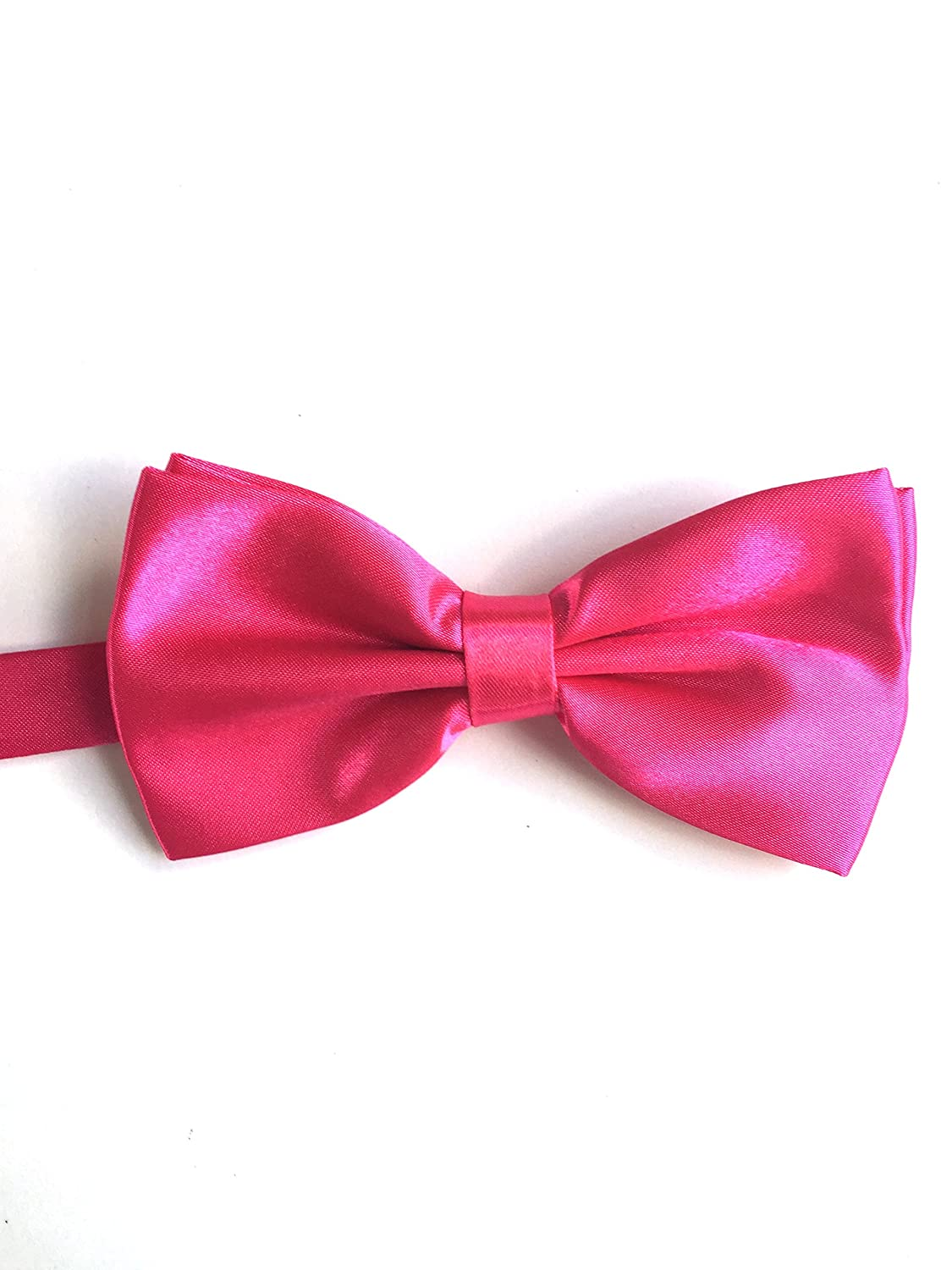 Rodges Standard Size 4.7 Inch Mens Fuchsia Adjustable Strap and Clip On Satin Bowtie Mr